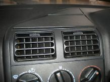 peugeot 205 1.6 /1.9 gti center middle dash vent in black grey also available